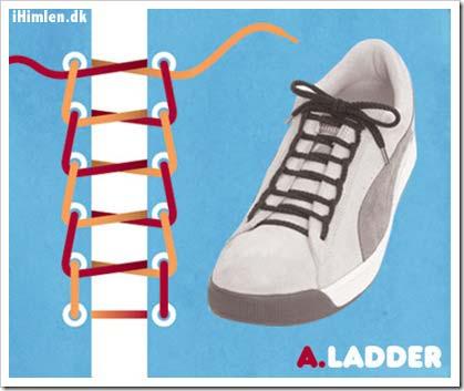 sæt snørebånd i sko